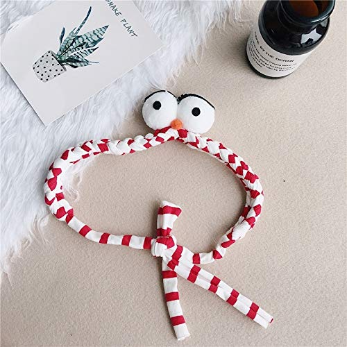Striped Eyelash (Adult Children Girl Lovely Stretch Elastic Cross Eyes Big Eyes Eyelash Hair Band Headband Hair Bands face (red and White Striped b)
