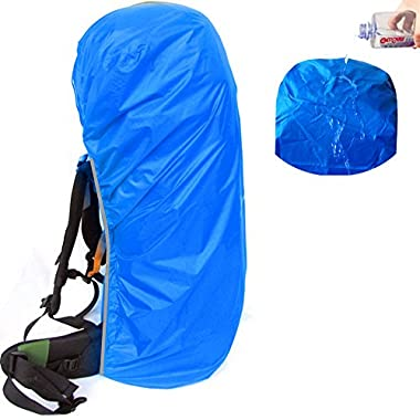Joy Walker Waterproof Backpack Rain Cover Suitable for (55-70L, 70-90L) Backpack (Blue, XL (for 55-70L backpack))