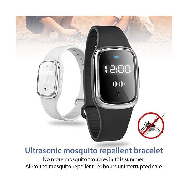 Dreameryoly Braccialetto Repellente per zanzare ad ultrasuoni, Braccialetto Anti-zanzare per Bracciale Repeller di… 3 spesavip