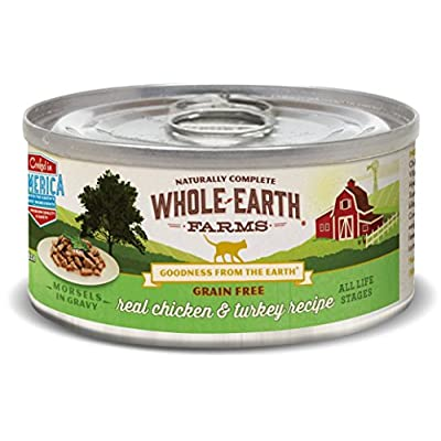 Whole Earth Farms Grain Free Real Morsels In Gravy Chicken & Turkey Wet Cat Food, 5 Oz, Case Of 24
