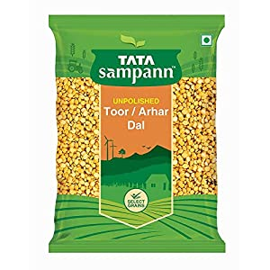 Tata Sampann Unpolished Toor Dal/Arhar Dal, 1kg India 2020 - 2021