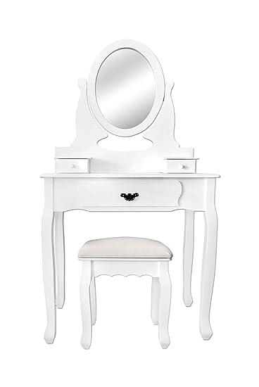 mobili rebecca® mobile da trucco toeletta specchiera make up ... - Mobile Specchio Make Up