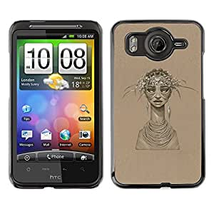 LECELL--Funda protectora / Cubierta / Piel For HTC G10 -- Mujer Africana --