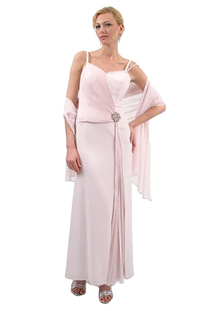 f4444cea5a16 Mother of the Bride Dress Long Chiffon Couture Gown 3001 (Cameo Rose ...