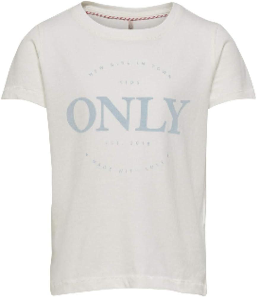 Only 15201766 Logo Life Camisetas Y Camisa DE Tirantes Girl White 7-8 Y: Amazon.es: Ropa y accesorios