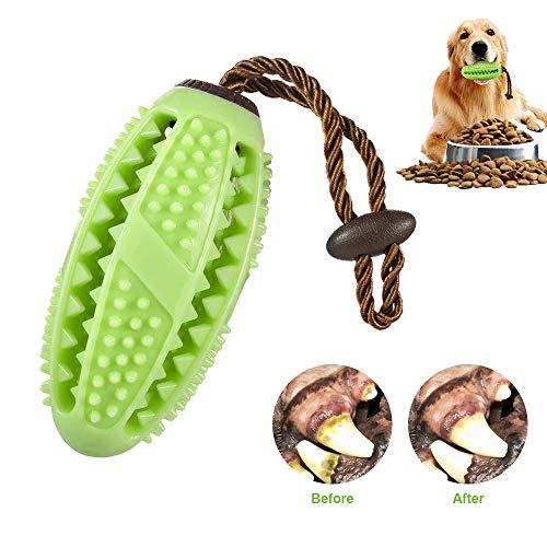 OKA Dog Chew Toys Interactive Dog Food Treat Dispensing Toy, Dog Toothbrush Chew Toy for Small Medium Dog (Green)