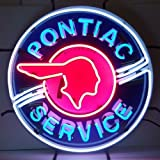 Neonetics 5PONBK Pontiac Service Neon Sign with Backing