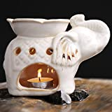 Thailand Fragrance Lamp Essential Oil Lamp Candle Ceramics Large Capacity Incense Burner-A