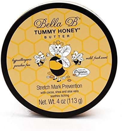 Bella B Naturals Tummy Honey Butter 4 oz - Tummy Butter For Stretch Marks - Pregnancy Cream To Prevent Stretch Marks - Stretch Marks Cream For Pregnancy - Bella B Bodycare - Bella B Tummy Honey Cream