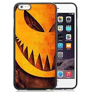 NEW Unique Custom Designed iPhone 6 Plus 5.5 Inch Phone Case With Halloween Pumpkin Sharp Teeth Illustration_Black Phone Case