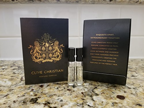 - Clive Christian Private Collection Sample Duo: Citrus Woody & Citrus Floral, 0.05 oz/1.5 ml each vial