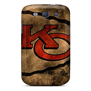 CharlesPoirier Samsung Galaxy S3 Durable Hard Phone Cover Support Personal Customs Fashion Kansas City Chiefs Image [VRD16230jESa]