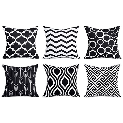 Top Finel Decorative Pillowcases Inch Black