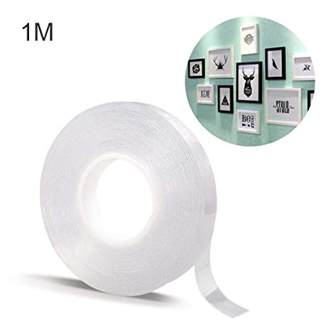 3M//9.84FT Multifunctional Reusable Gel Pads Traceless Anti-Slip Carpet Tape for Fixing Carpet Phones Pictures Pen Key Household Industrial Use KissDate Washable Double Sided Adhesive Tape