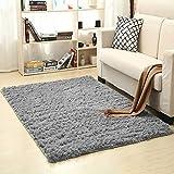 Rowentauk Soft Indoor Plush Area Rug Fake Fur Fluffy Anti-Skid Yoga Floor Carpet for Dining Living Room Bedroom Floor