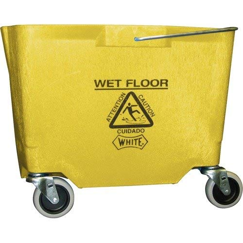 Impact 2635-3Y Polyethylene Mop Bucket with 3'' Casters, 26-35 qt Capacity, 18-3/8'' Length x 15-15/16'' Width x 14'' Height, Yellow