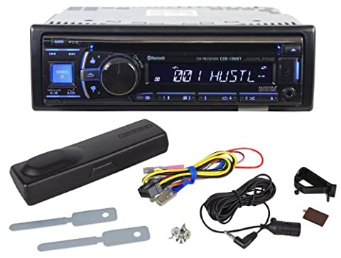 Brand New Alpine CDE-136BT Single Din In-Dash Car Receiver with Bluetooth Wireless Technology and Front AuxInput Jack + USB Mass Storage (98 Cherokee Stereo Alpine)