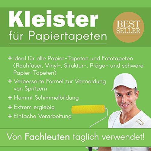 Tapetenkleister Papier Tapete Kleister Fototapete 400g (ca. 56-60 m2) - Ideal für Fototapeten, optimales & praktisches Dosieren 8 x 50g Päckchen
