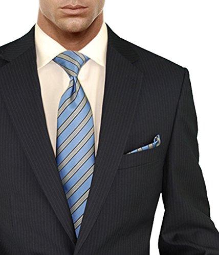Salvatore Exte Men's Suit Modern Two Button 2 piece Striped (40 Regular, Dark Navy) by Salvatore Exte (Image #3)
