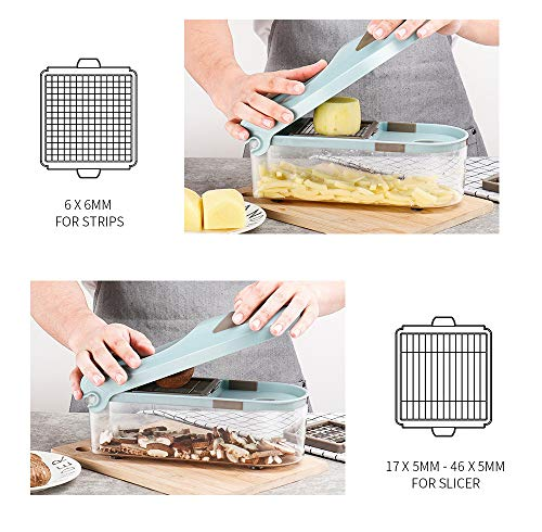 Mandoline Slicer Vegetable Fruit Presser Chopper Cutter 3 Dicing Blades Potato Garlic Peeler Grater Dicer Kitchen Tools(5)