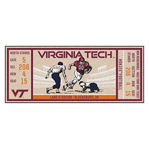 - FANMATS NCAA Virginia Tech Hokies Techticket Runner, Team Color, One Size