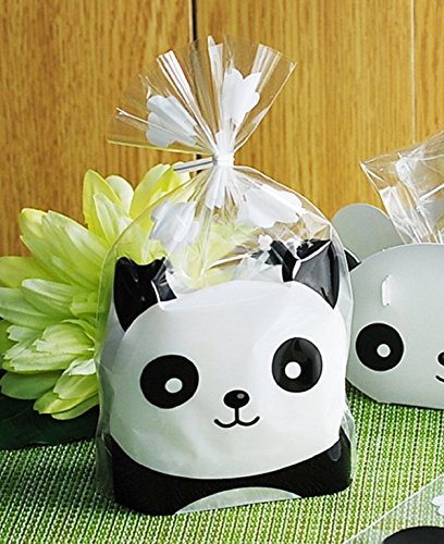Borang 100-Pack Panda Sweet Cookie Candy Party Gift Wrapping Packaging Bags (6.3 x 7.9)]()