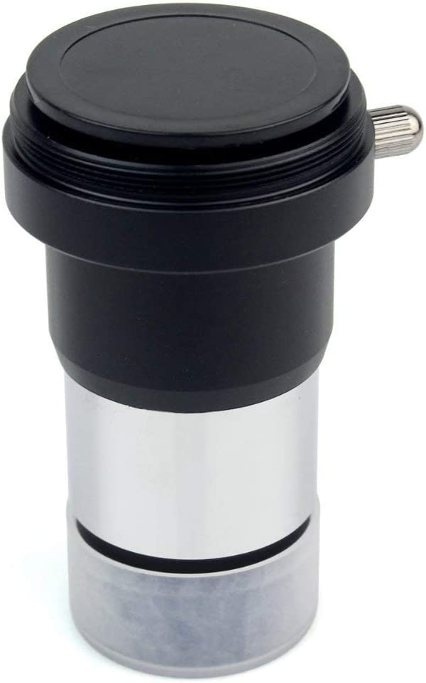 ZHYY 1.25 2X Lens Fully Multi-Coated Metal with M42x0.75 Thread Camera Connect Interface for Telescope Eyepieces