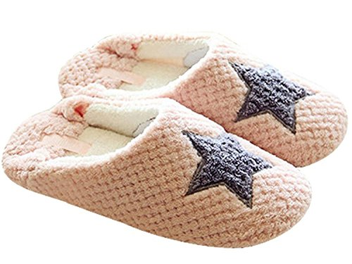 Maybest Donna Primavera Autunno Dolce Accogliente Fleece Pantofole Antiscivolo Rosa