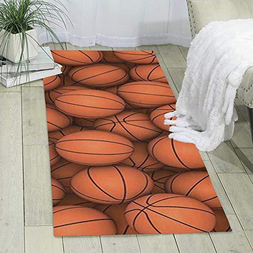(Bghnifs Basketball Orange Print Area Rug Runner Rug Living Room Carpet Hallway Carpet Entry Rugs Room Bedroom Rugs, 70'' X 24'')