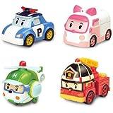 Robocar Poli Diecasting Set : Poli, Roy, Amber, Helly (Non-transformateur)