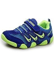 DADAWEN Children Boy's Girl's Mesh Running Shoes Velcro Strap Sneakers (Toddler/Little Kid/Big Kid)