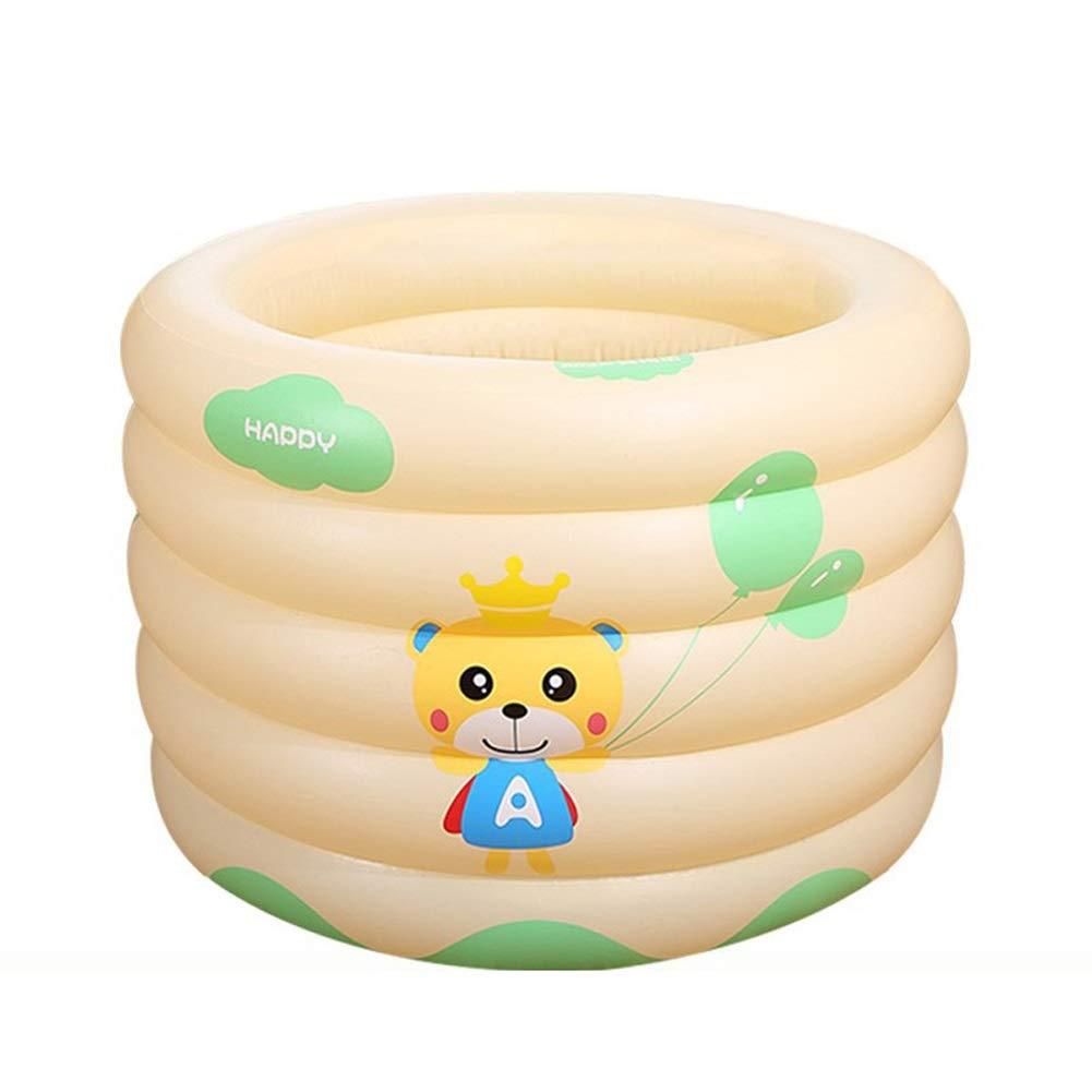 XAOBNIU Aufblasbare Badewanne für Kinder Kinderbecken Tup (Größe   Rectangular 120  95  70cm)  Cylindrical 10010070cm