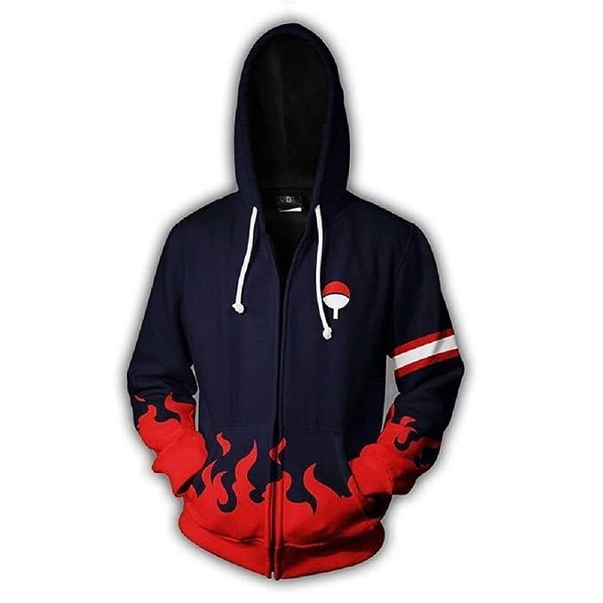 Amazoncom Tunsechy Uchiha Amaterasu Fire Zipper Hoodie