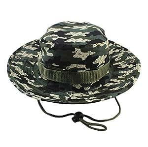 04560f513081d Amazon.com   Hongxin Hot Sale Military Camouflage Bucket Hats ...