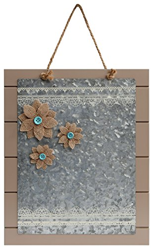 C.R. Gibson Wood Magnet Board with 3 Magnets, Tan