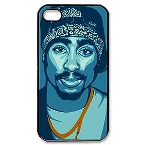 CTSLR 2Pac Tupac Amaru Shakur Protective Hard Case Cover Skin for Apple iPhone 4/4s- 1 Pack - Black/White - 3 wangjiang maoyi