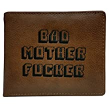 Brown Embroidered Pulp Fiction Bad Mother Fer Wallet