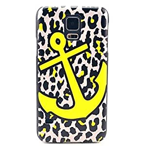 ZL Leopard Anchor Pattern Hard Case Cover for Samsung Galaxy S5 I9600