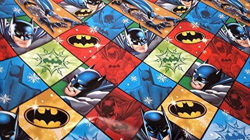 [Christmas Wrapping Batman Holiday Paper Gift Greetings 1 Roll Design Festive Wrap Disney Car Square Batman] (Homemade Disney Character Costumes)