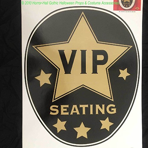 Hollywood Star Toilet Topper-VIP SEATING-Party Sticker Cling Bathroom (Dead Hollywood Stars Halloween)
