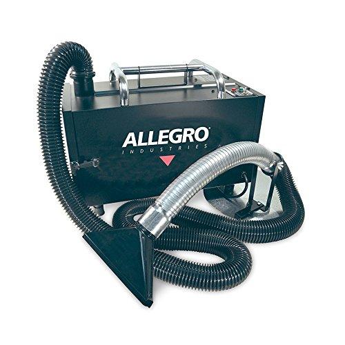 Allegro Industries 9450 Portable Fume Extractor with Main Filter and Pleated (Portable Fume Extractor)