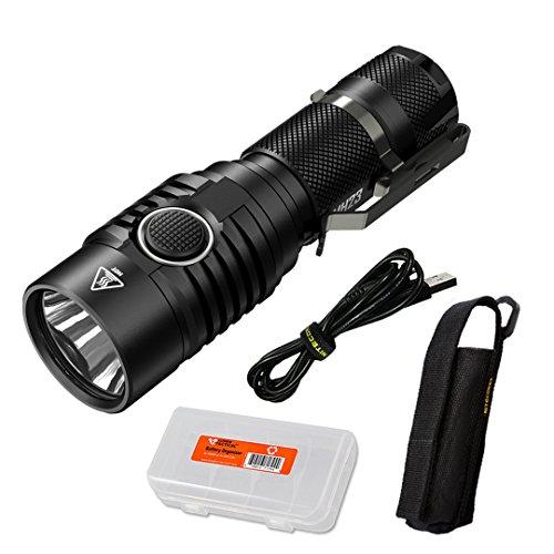 Nitecore MH23 1800 Lumen USB Rechargeable Compact Mini Flashlight with Lumen Tactical Battery Organizer