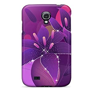 For Galaxy S4 Premium Tpu Case Cover Flowers Protective Case