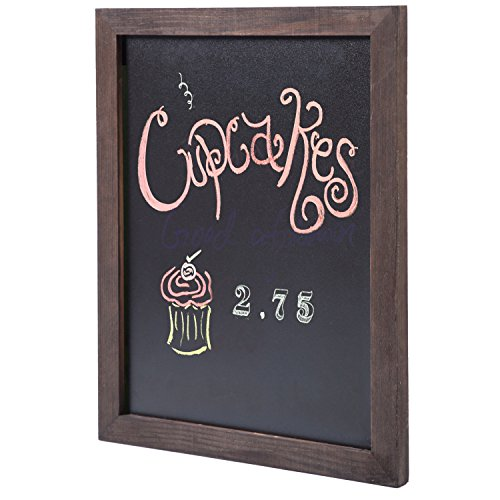15 Whimsical Kitchen Designs With Chalkboard Wall: 15 13 Inch Vintage Dark Brown Wood Framed Wall Mounted