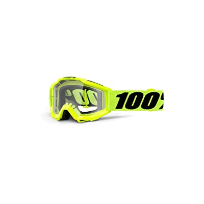 100% ACCURI Youth Goggles Fluo Yellow - Clear Lens, One Size: Automotive