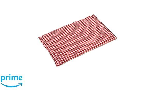 Almohada térmica de semillas 30x20cm rojo y blanco | Saco ...