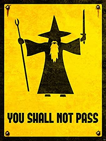Amazoncom You Shall Not Pass Gandalf The Lord Of The Rings Lotr