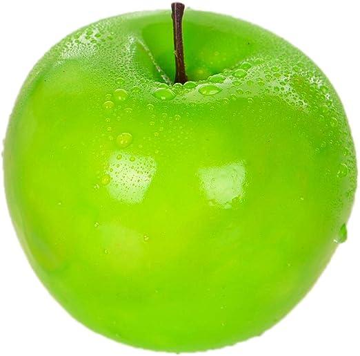 Lanburch - Juego de 6 Manzanas Artificiales Artificiales realistas para decoración de Frutas: Amazon.es: Hogar