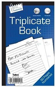 Just Stationery - Cuaderno con papel de calco (triple copia)