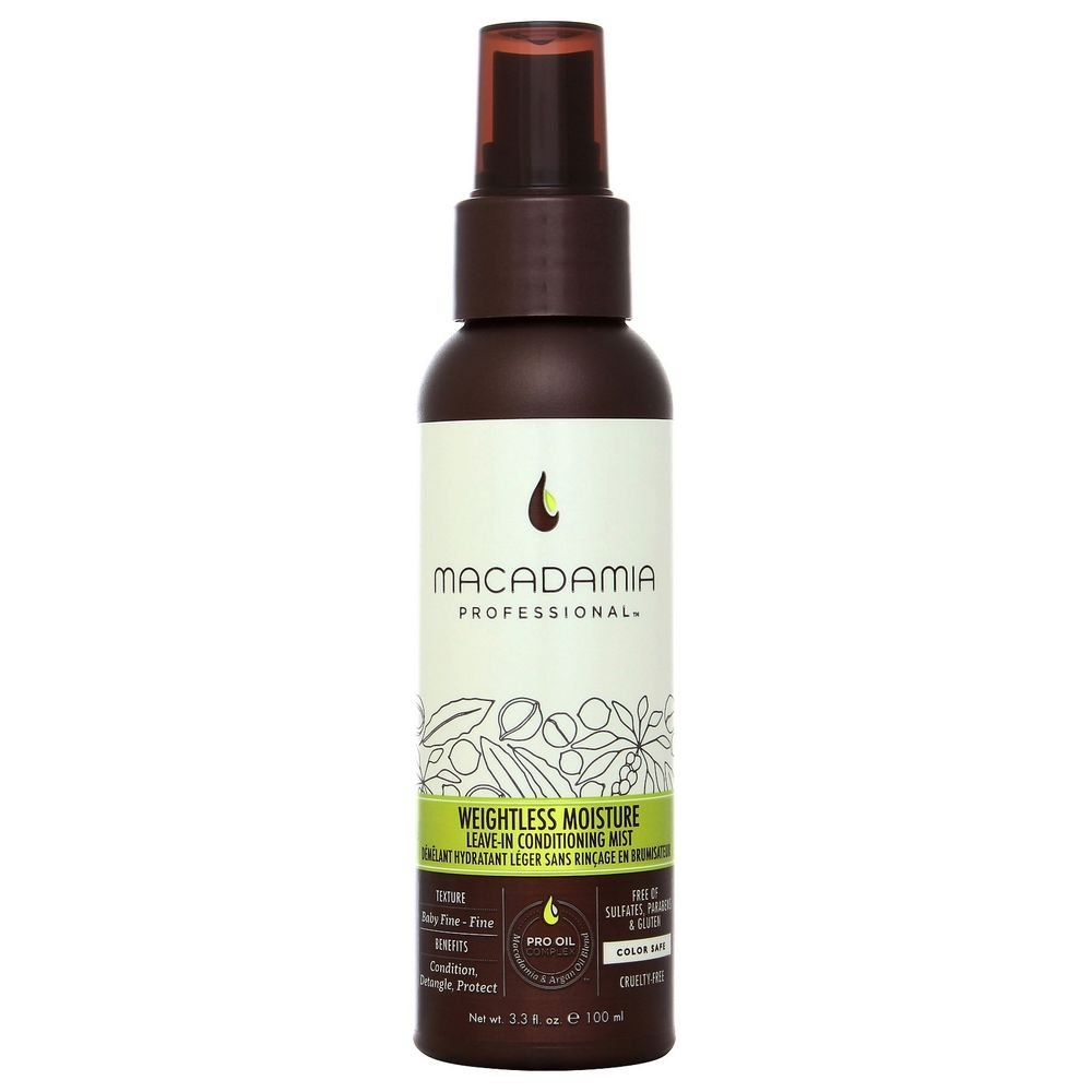 Macadamia Professional Weightless Moisture Leave-in Conditioning Mist - 3.3 oz. - Baby Fine to Fine Hair Textures - Conditions & Detangles - Sulfate, Gluten & Paraben Free, Safe for Color-Treated Hair